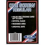 1 (One) BCW 1 Screw Card Holder - 20 Pt. - Screwdown - Baseball Card - Sports Screw Down Card Holder