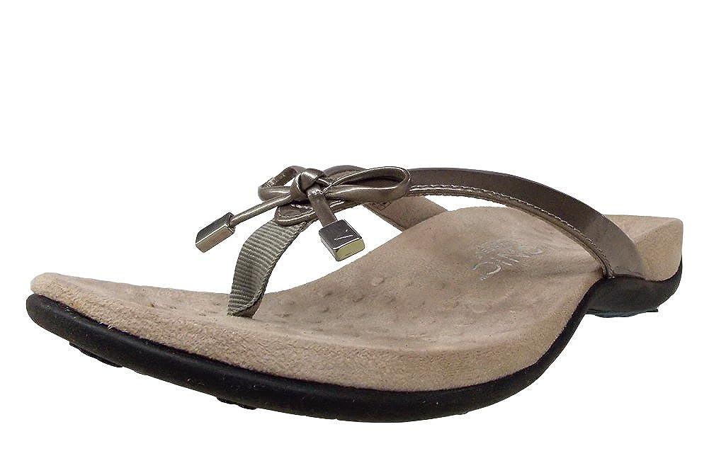 902c46e53b5b Vionic Aubrey - Womens Slide Sandals - Orthaheel Pewter Snake - 10 UK Size    8  Amazon.co.uk  Shoes   Bags