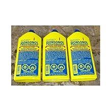 LOT OF 3 BOTTLES RONSONOL 12 oz BEST LIGHTER FLUID These are the JUMBO BOTTLES!