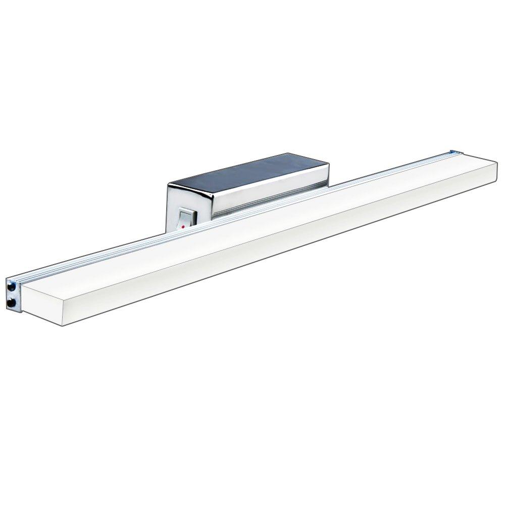 Bonlux Specchio per Bagno Luci LED Applique da Parete Impermeabile IP65, Specchio Comò Luce Anteriore Bagno Luce per Lampada Foto per Trucco per Mobile Bagno (Bianco Caldo 3000K, 430mm 7W) [Classe di efficienza energetica A+] Lusta LED Co. Ltd