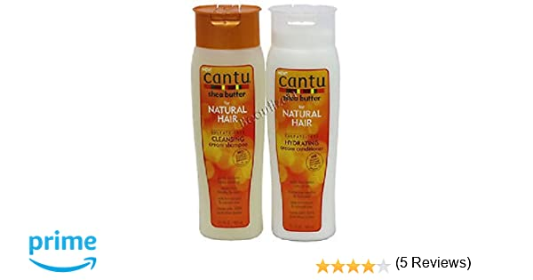 Cantu Shea Butter for Natural Hair Shampoo and Conditioner SULFATE FREE by Cantu: Amazon.es: Belleza