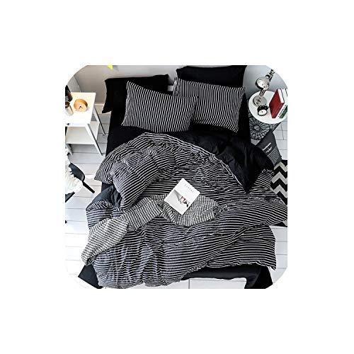 - LOVE-JING Textiles Girls Kid Teen Fashion Bedding Set Adult Soft Washed Cotton Black White Heart Shaped Duvet Cover Pillowcase Bed Sheet,Sx05,Full,Flat Bed Sheet