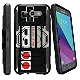 MINITURTLE Case Compatible w/ Case for [Samsung Galaxy J3 Emerge | J3 Prime | J3 Eclipse | Luna Pro 2017][Armor Reloaded] Rugged Impact ProtectorStand Heavy Duty Game Controller Retro Review