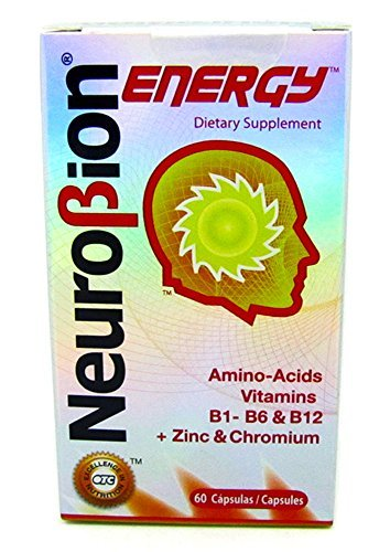 60 Caps Neurobion Energy - Amino Acids Vitamin B1 B2 B6 B12 - Increases Brain Alertness