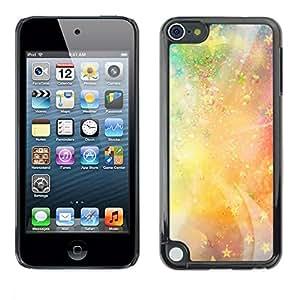 PC/Aluminum Funda Carcasa protectora para Apple iPod Touch 5 Stars Universe Neon Light Galaxy Painting / JUSTGO PHONE PROTECTOR