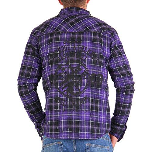 GEOGRAPHICAL NORWAY GANGSTER UNIT Herren Hemd Jacke Zorente Purple Größe M