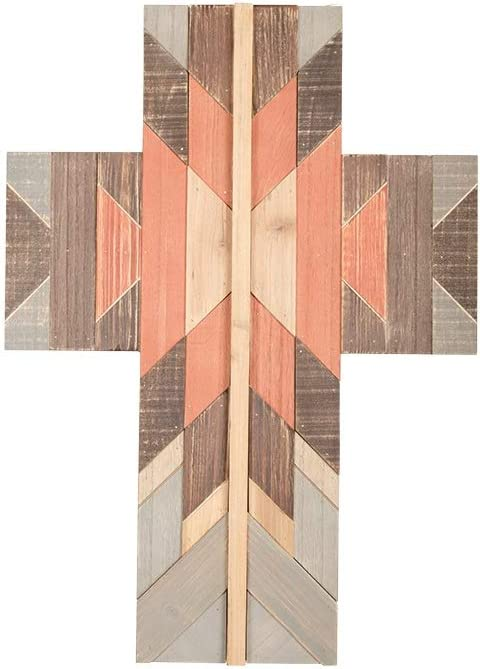 Carson 12 Inches Width x 19 Inches Height x 0.25 Inch Depth Navajo Boho Wall Cross