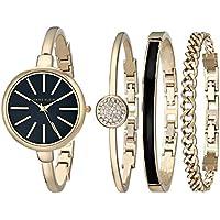 Anne Klein Women's Bangle Watch and Bracelet Set