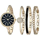 Kyпить Anne Klein Women's AK/1470GBST Gold-Tone Watch and Bracelet Set на Amazon.com