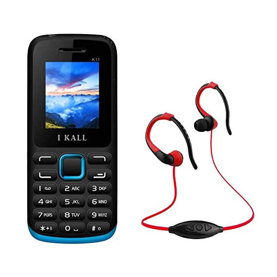 17c7f427064 IKALL K11 Mobile Phone with MP3 FM Player Neckband -Blue  Amazon.in   Electronics