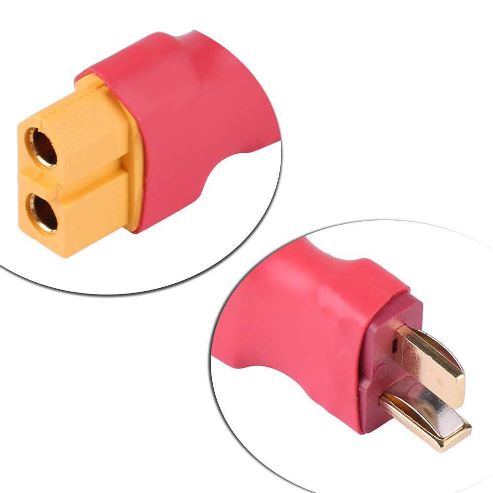 Idalinya Rc Plug Xt60 Female to T Dean Male Plug Connector Rc No Wire Adapter for Model Airplane Battery