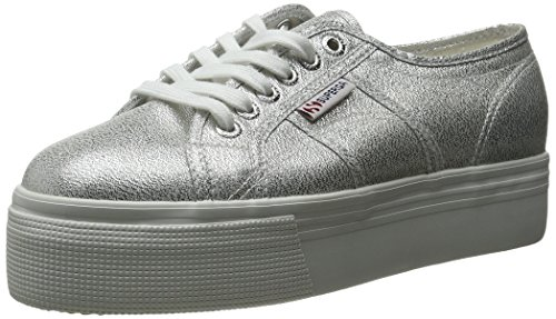 Superga Women's 2790 Lame Fashion Sneaker, Silver, 38 EU/7.5 M US