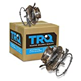 TRQ Front Wheel Hub & Bearing Left & Right Pair for 03-05 Dodge Ram 4WD w/ABS