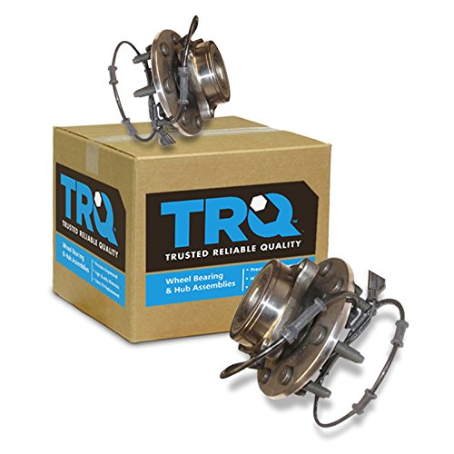 TRQ Front Wheel Hub & Bearing Left & Right Pair for 03-05 Dodge Ram 4WD w/ ABS