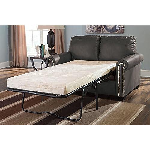 Ashley Furniture Signature Design   Lottie Sleeper Sofa   Twin Size   Slate