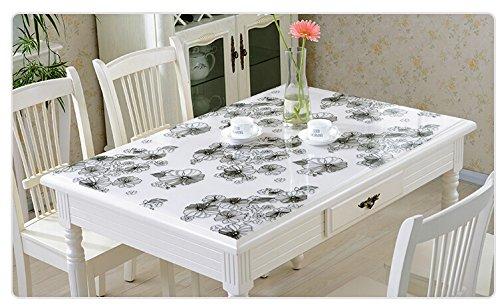 Cristal de PVC blando funda para mesa mantel impermeable - algunos ...
