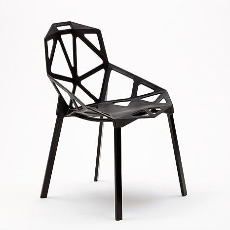 Set da 4 Sedie Design Geometrico\