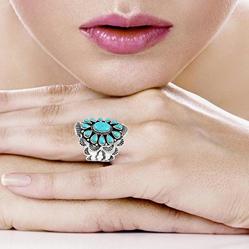 Sterling Silver Genuine Gemstones & Turquoise (SELECT color) (Turquoise, 10) by Turquoise Network (Image #2)