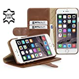 StilGut Talis with Stand, Leather Wallet Case for Apple iPhone 6 & iPhone 6s (4.7''), Cognac Brown
