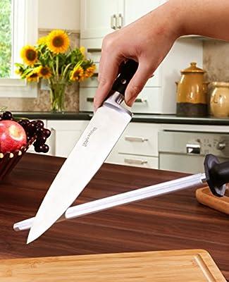 Amazon.com: Utopia Kitchen - Caña de afilar de acero para ...