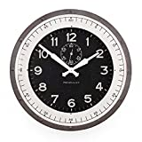 Pendulux Skyway Decorative Wall Clock, Vintage Unique Wall Clock for Outdoor and Home Decor, Gray – 20″ Diameter For Sale