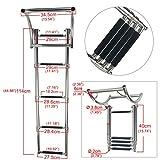 Amarine-made 4 Step Rib Ladder Stainless Steel Telescoping Swim Step Rubber Boat Ladder