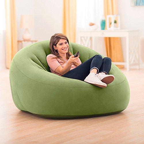Intex 68576NP - Sillón hinchable Beanless Bag Club en color verde ...