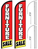 2 Windless, Swooper, Feather, Banner Flags FURNITURE SALE, Poles & Ground Spikes For Sale