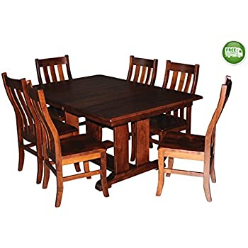 this item aspen tree interiors solid wood heirloom 9 piece dining room kitchen table set get ready for the holidays and generations to come made in
