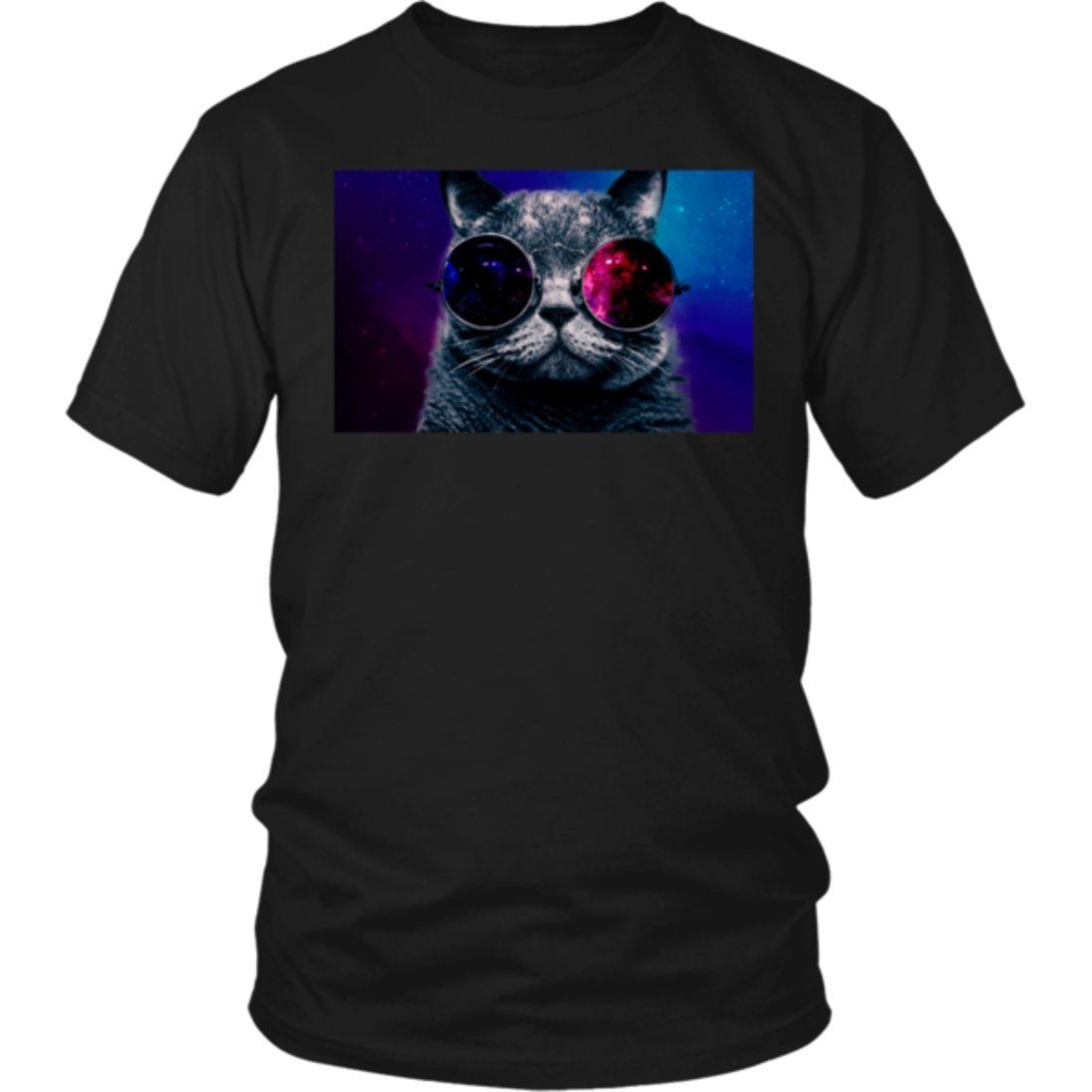 Cat Space Glasses Shirt Astronaut Cat Meme Round Glasses Tee