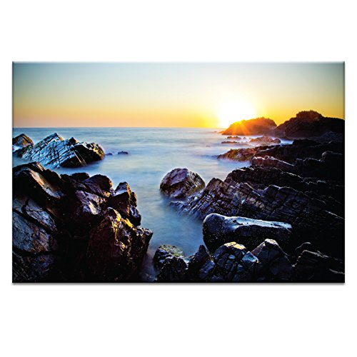 20 by 30 by 1.5-Inch P2638 Crescent Sunrise Canvas Artwork by Rohan Anderson Artist Lane 10RA