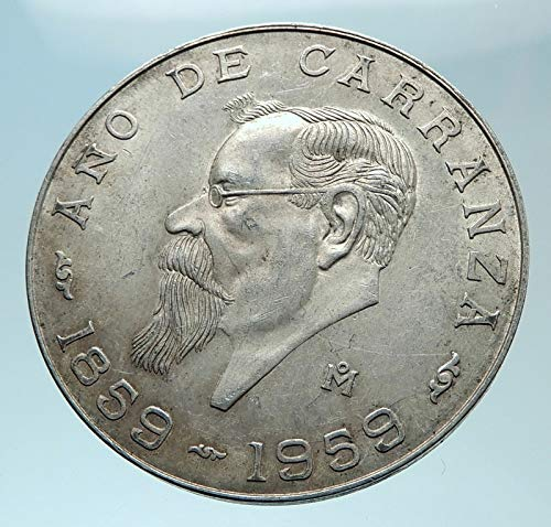 (1959 MX 1959 MEXICO Mexican Revolutionary War Hero CARRAN 5 Pesos Good Uncertified)