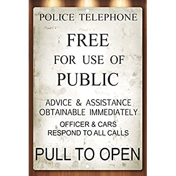 Doctor Who Tardis Police Box Novelty Aluminum Sign TARDIS New WITH MOUNTING HOLES
