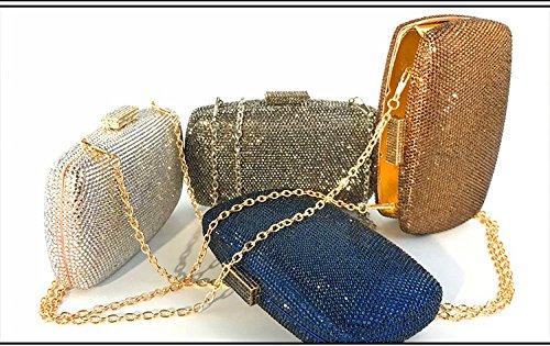 Tout Chaud Pack Robe Fourre Messenger Night Silver Dîner Diamant de Soirée Sac Messenger Satchel Embrayage Femmes Club Bandoulière Cheongsam Luxe dnqw6td