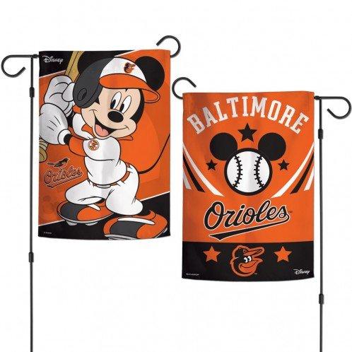 Oriole Garden (WinCraft Baltimore Orioles/Disney Mickey Mouse Garden Flags 2 sided)