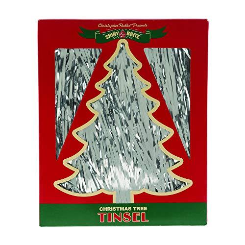 Christopher Radko Magical Tinsel Shimmering Silver Tone 18 inch Metal Holiday Hanging Garland