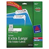 AVE5027 - Avery Extra-Large 1/3-Cut File Folder Labels