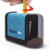 Arts & Crafts : PowerMe Electric Pencil Sharpener - Battery Operated, (No Cord) for Home, Office, School, Artist, Students and more! – Ultra Portable, ideal for No. 2 And Colored Pencils (Drawing, Coloring)