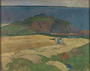 'Paul Gauguin Harvest Le Pouldu ' oil painting, 8 x 10 inch / 20 x 26 cm ,printed on polyster Canvas ,this High Definition Art Decorative Prints on Canvas is perfectly suitalbe for Nursery gallery art and Home decor and Gifts