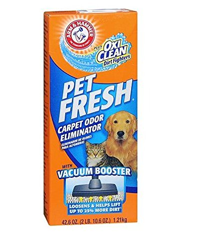 Permanently! Arm & Hammer Pet Fresh Carpet Odor Eliminator Powder plus OxiClean Dirt Fighters42.6 oz.(11pk) by Arm & Hammer Fresh