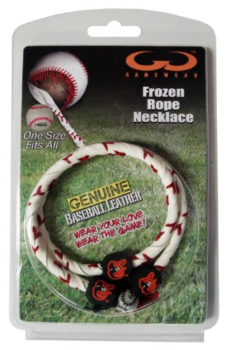 MLB Baltimore Orioles Classic Frozen Rope Baseball Necklace