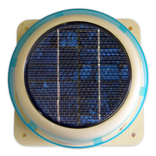 Solar Panel Ventilator Vent Fan for House, Home, Roof, Shed, Boat - Mounts on Roofing, Fiberglass, Wood, Metal, Glass almost any type of Surface (Glass Roof Panels compare prices)