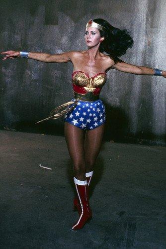 Lynda Carter in Wonder Woman twirling in costume 24x36 -