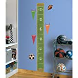: RoomMates RMK1079GC Play Ball Peel & Stick Growth Chart