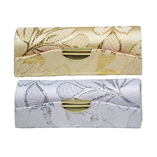 Elegant Ladies Lipstick Case with Mirror Purse Lip Stick Holder - Set of 2