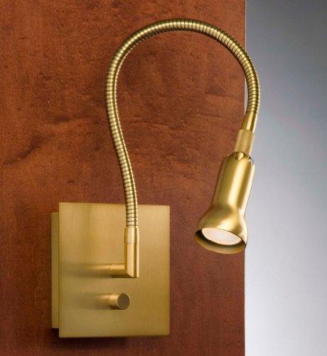 Holtkoetter 6265 AB Bedside Reading Midnight Reader Wall Lamp, Antique Brass