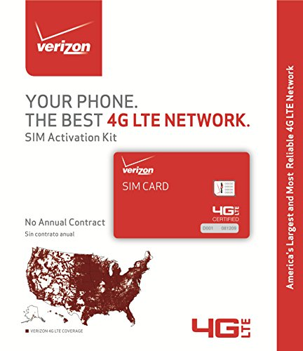 Verizon Wireless SIM Kit Prepaid Sim Card