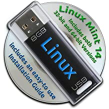 Linux Mint 14 on a Bootable 8GB USB Flash Drive - 32-bit and 64-bit.