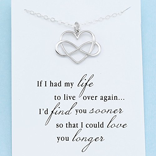 Infinite love necklace sterling silver infinity heart charm next mozeypictures Image collections