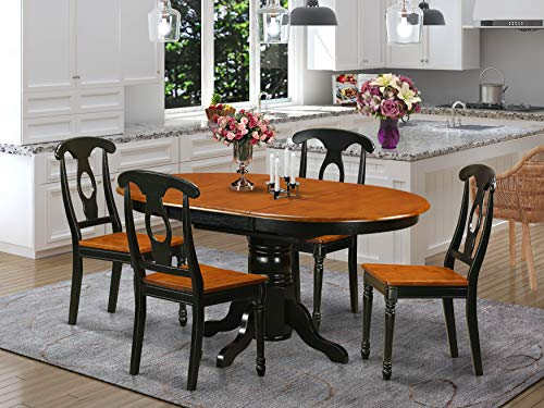 5 Pc Dining room set-Oval Dining Table in conjuction with 4 Dining Chairs.